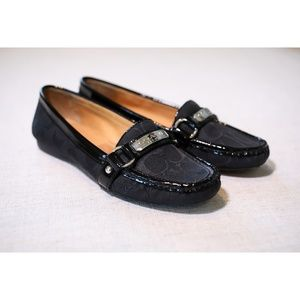 Coach Felicia Loafers Black Size 7.5